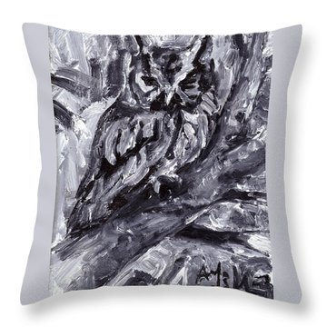 Eastern Screech-owl Throw Pillow