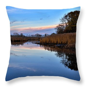 Throw Pillow featuring the photograph Eastern Shore Sunset - Blackwater National Wildlife Refuge by Brendan Reals