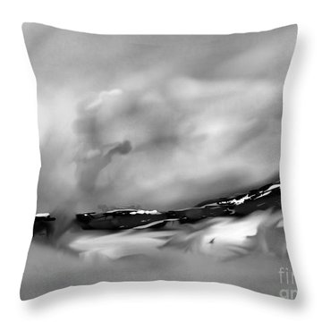 Eastern Sierra Impression Near Whiney Portal Road Throw Pillow