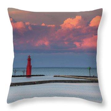 Eastern Sky At Sunset Throw Pillow