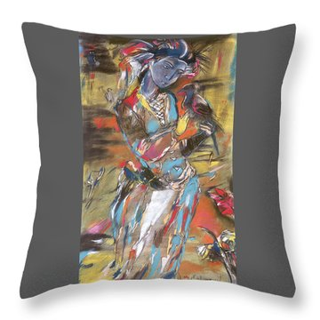 Eastern Tapestry Throw Pillow