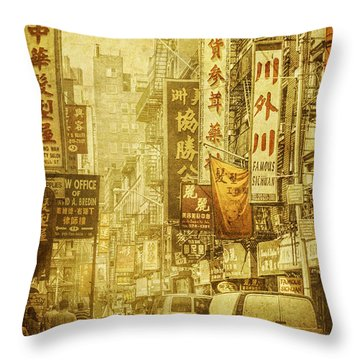 Eastern West Throw Pillow by Andrew Paranavitana