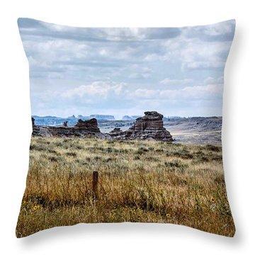 Eastern Wyoming Sky Throw Pillow