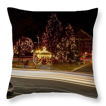Easthampton Light Trails Throw Pillow