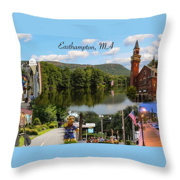 Easthampton Ma Collage Throw Pillow