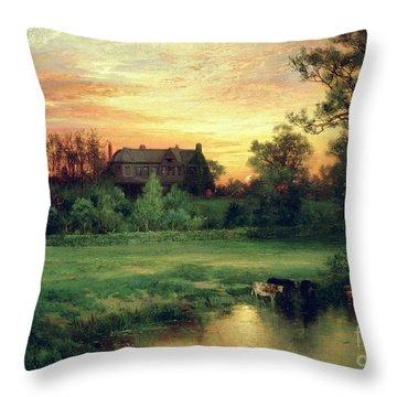 Easthampton Throw Pillow by Thomas Moran