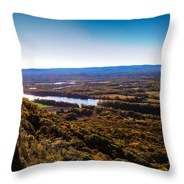 Easthampton View From Summit House Throw Pillow