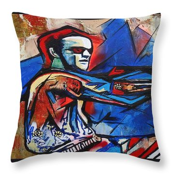 Easy Rider Captain America Throw Pillow by Eric Dee