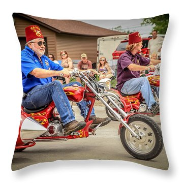 Easy Rider Throw Pillow by Ray Congrove