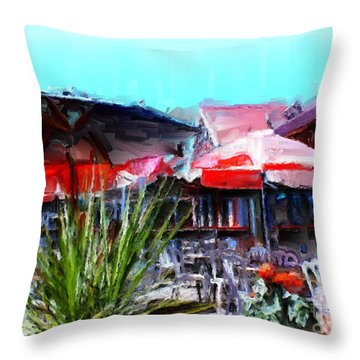 Eat At Joe's Throw Pillow by Methune Hively
