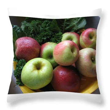 Eat Healthy Stay Healthy Throw Pillow