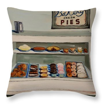 Eat More Pie Throw Pillow by Lindsay Frost
