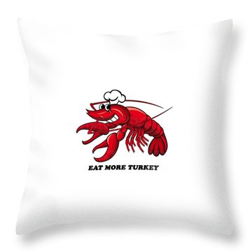 Throw Pillow featuring the photograph Eat More Turkey by Marty Saccone