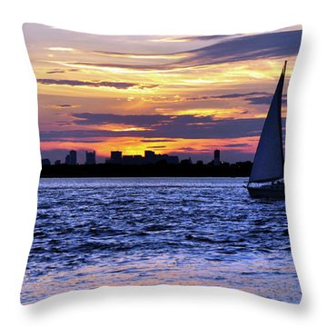 'eat My Dusk' Throw Pillow by Joanne Brown