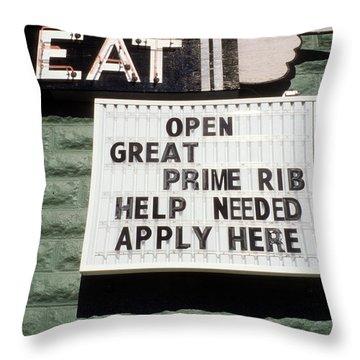Eat Sign Throw Pillow