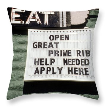 Eat Sign Throw Pillow