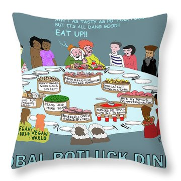 Eat Up Throw Pillow
