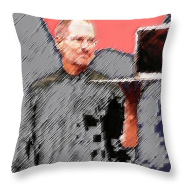 Eaten Apple Of Steve Jobs Throw Pillow