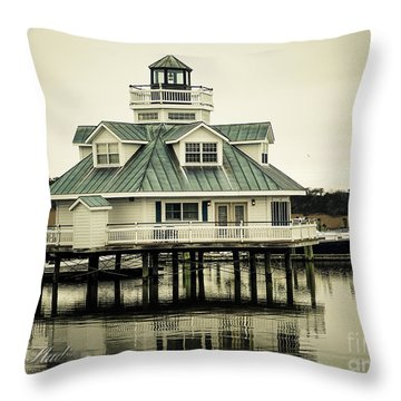 Eating On The River Throw Pillow by Melissa Messick