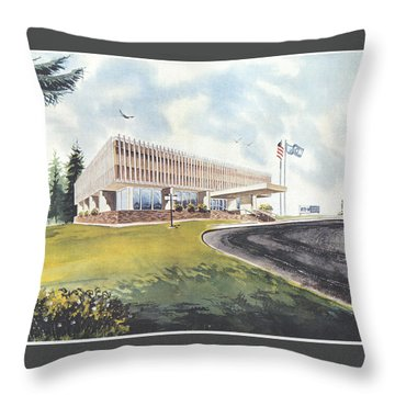 Eaton Corp Administration Building Throw Pillow