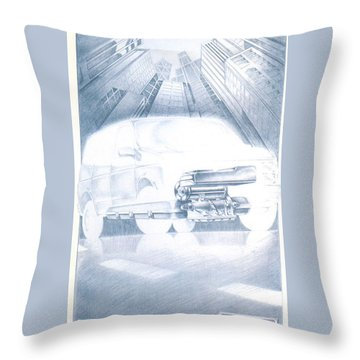 Eaton Electric Van Throw Pillow
