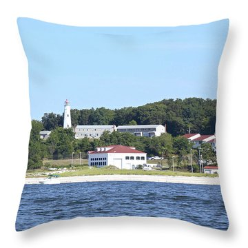 Eatons Neck Lighthouse Throw Pillow