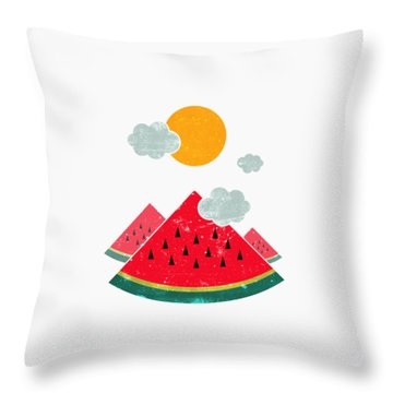 Eatventure Time Throw Pillow by Mustafa Akgul