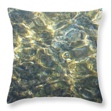 Throw Pillow featuring the photograph Eaux Du Lac by Marc Philippe Joly