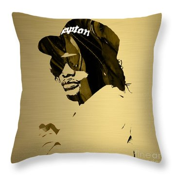 Eazy E Straight Outta Compton Throw Pillow by Marvin Blaine