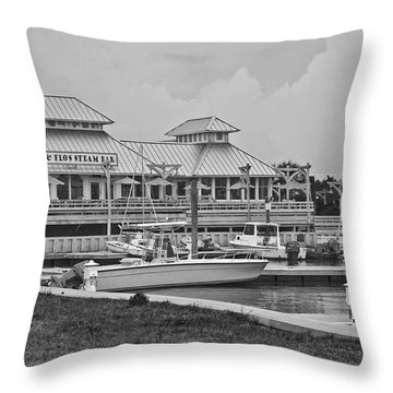 Eb And Flo's Steam Bar Throw Pillow