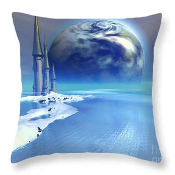 Ebb And Flow Throw Pillow by Corey Ford