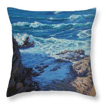 Ebb And Flow Throw Pillow by Karen Ilari