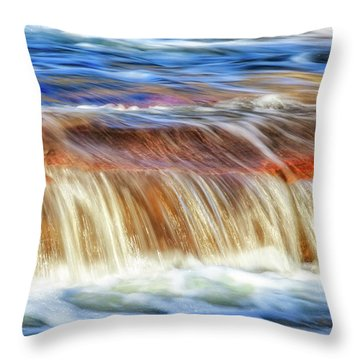 Ebb And Flow, Noble Falls Throw Pillow by Dave Catley