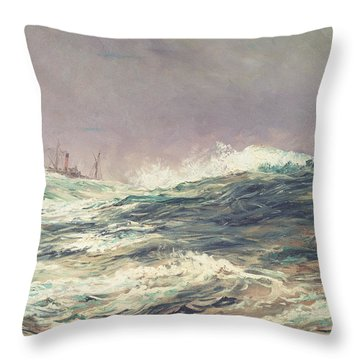 Ebb Tide Throw Pillow by William Lionel Wyllie