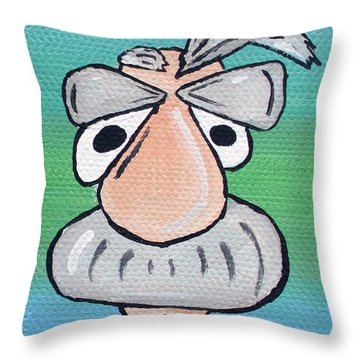 Ebel The Angel Throw Pillow by Jera Sky