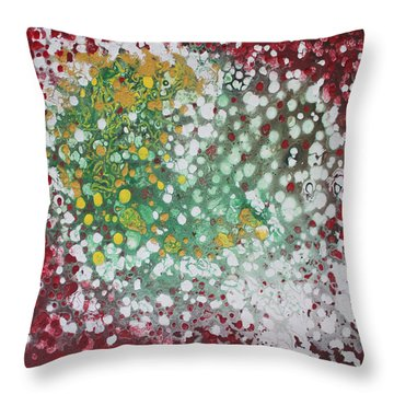 Throw Pillow featuring the painting Ebola Contained by Antonio Romero