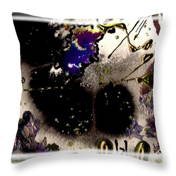 Throw Pillow featuring the mixed media Ebony Nights by Angela L Walker