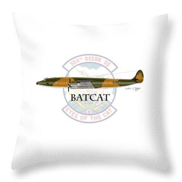 Ec-121r Batcat Throw Pillow