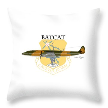 Ec-121r Batcatcavete Throw Pillow