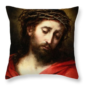 Ecce Homo, Or Suffering Christ Throw Pillow