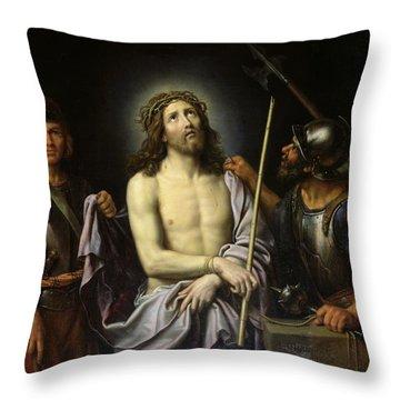Ecce Homo  Throw Pillow by Pierre Mignard