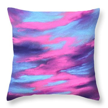 Throw Pillow featuring the painting Eccentric Sky by Anastasiya Malakhova