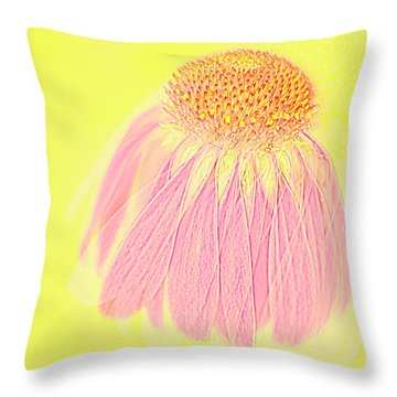 Echinacea In Pink Throw Pillow by Linde Townsend