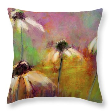 Throw Pillow featuring the digital art Echinacea by Jim Vance