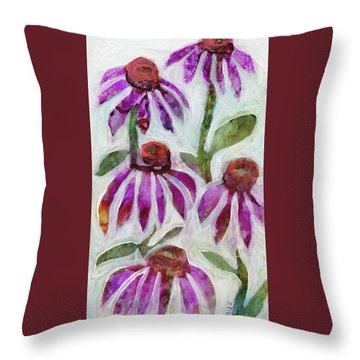 Echinacea Throw Pillow by Julie Maas