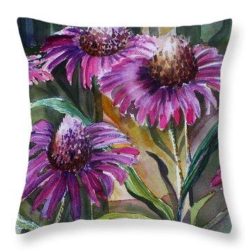 Echinacea The Healing Daisy Throw Pillow