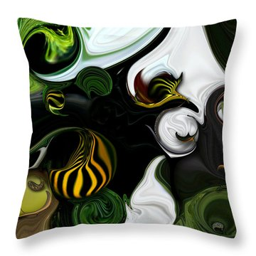 Throw Pillow featuring the digital art Echo And Feeling by Carmen Fine Art