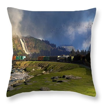 Echoes From The Caboose Throw Pillow