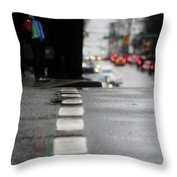 Echoes In The Rain Drops  Throw Pillow by Empty Wall