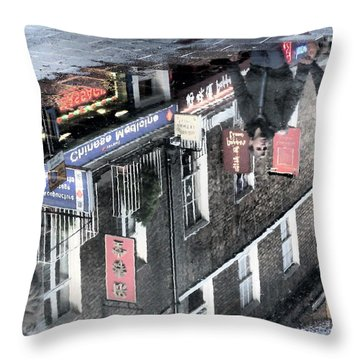 Echoes Of China Throw Pillow